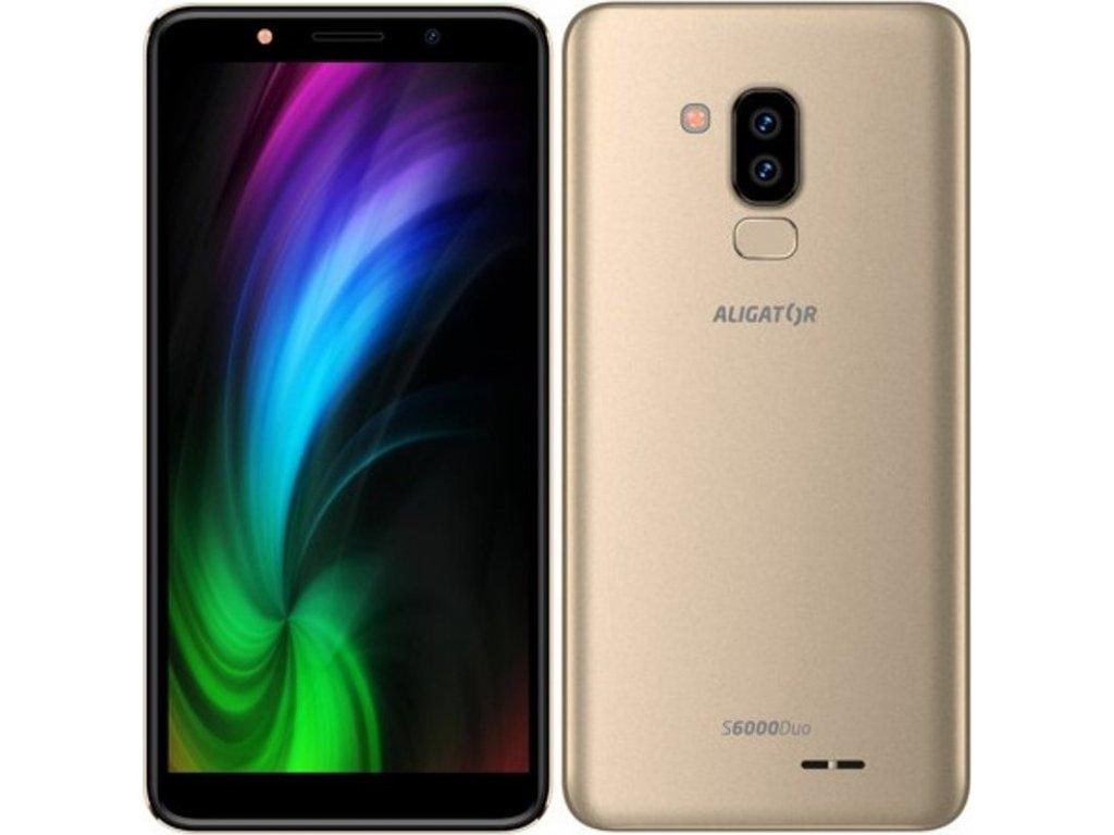 Mobilní telefon Aligator S6000 Dual SIM - zlatý