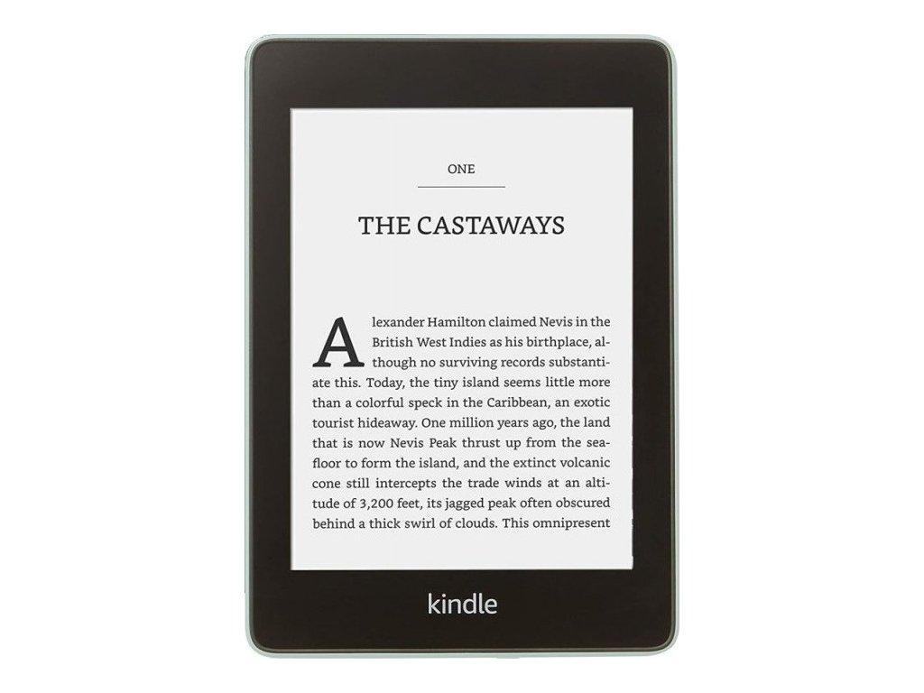 Čtečka e-knih Amazon Kindle Paperwhite 4 2018 s reklamou - zelená