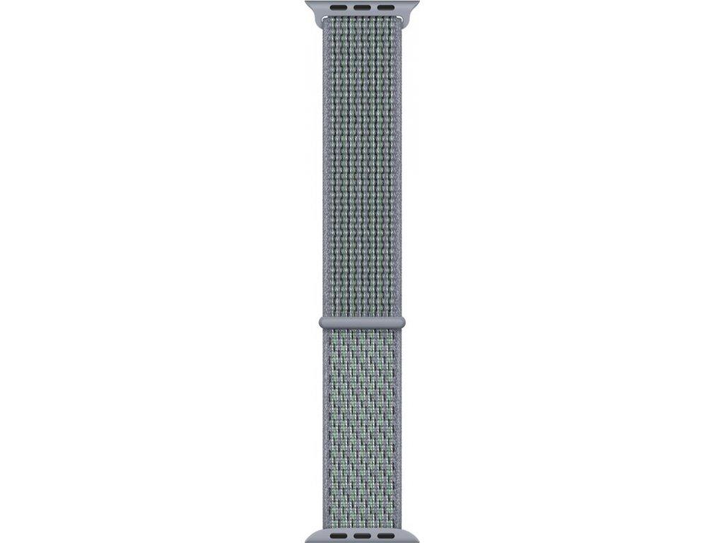 Řemínek Apple Watch 40mm mlhavě obsidiánový provlékací sportovní Nike