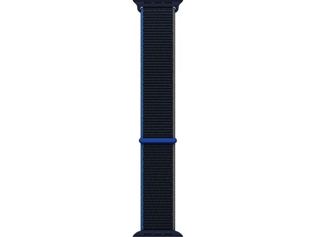 Řemínek Apple Watch 44mm uhlový provlékací sportovní – extra velký