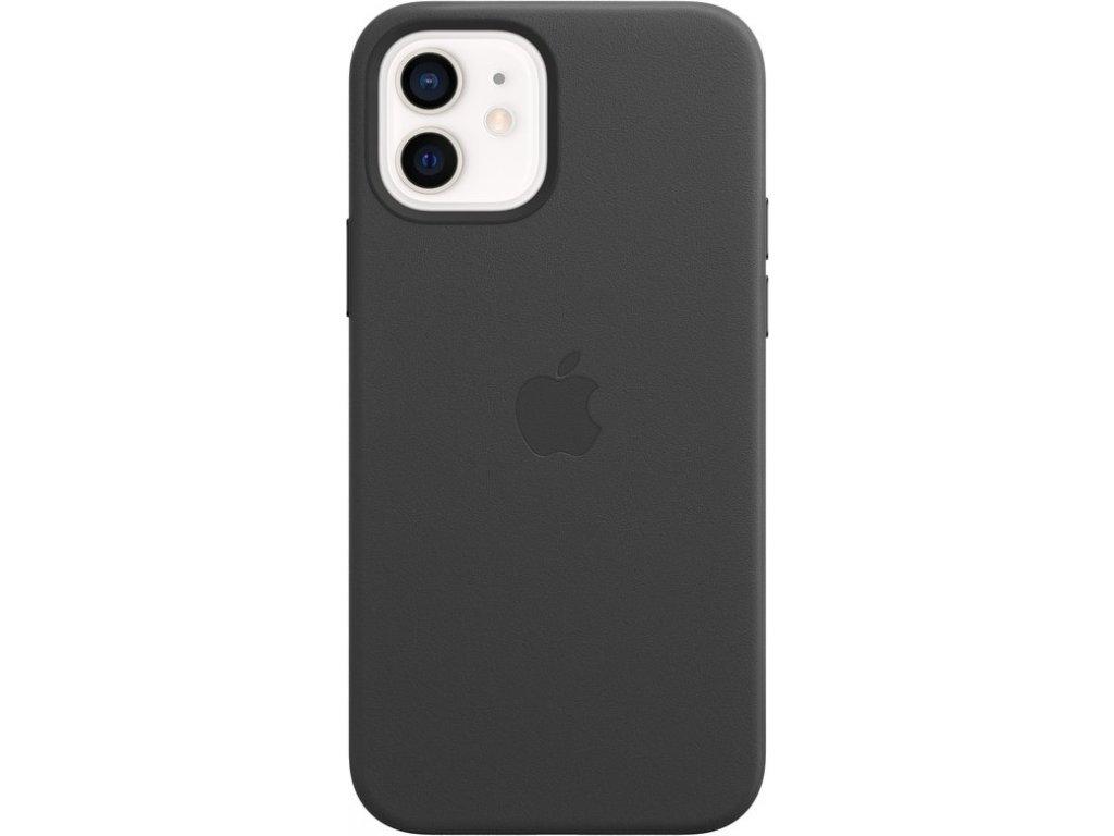 Kryt na mobil Apple Leather Case s MagSafe pro iPhone 12 mini - černý