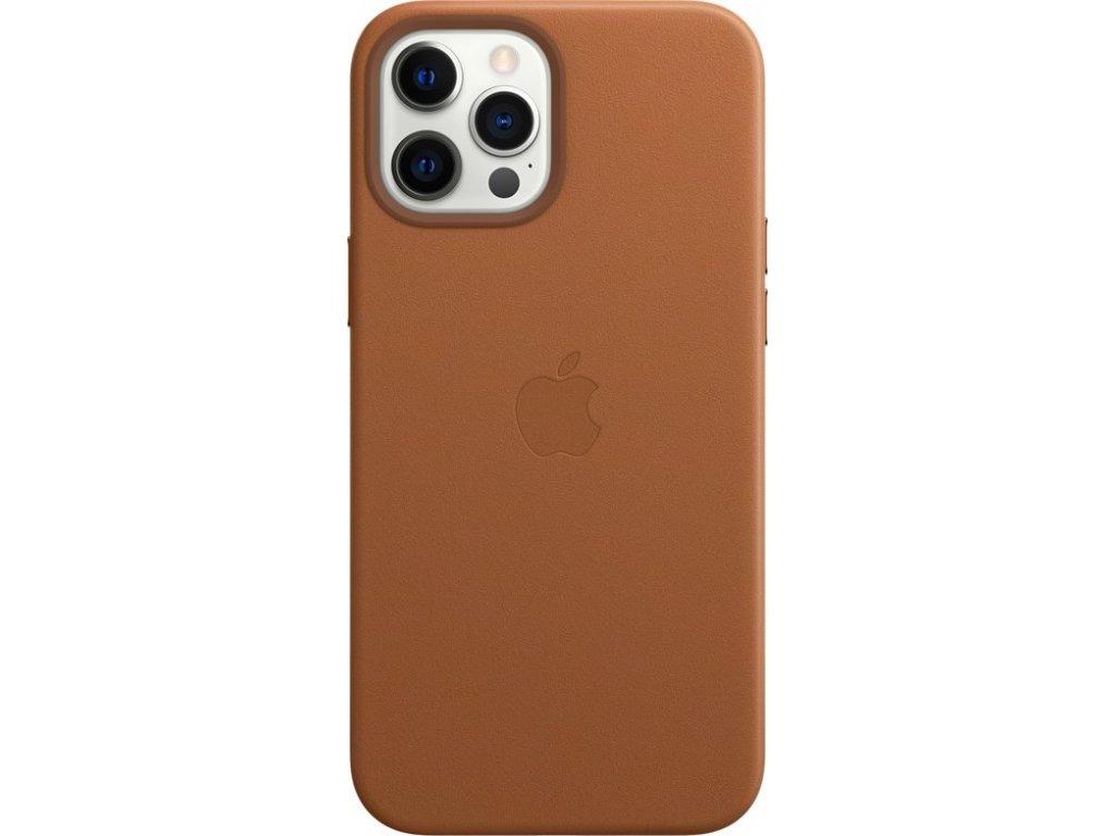 Kryt na mobil Apple Leather Case s MagSafe pro iPhone 12 Pro Max - sedlově hnědý