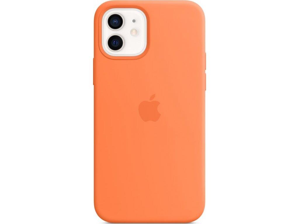 Kryt na mobil Apple Silicone Case s MagSafe pro iPhone 12 mini - kumkvatově oranžový