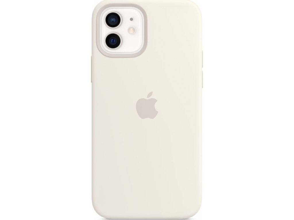 Kryt na mobil Apple Silicone Case s MagSafe pro iPhone 12 mini - bílý