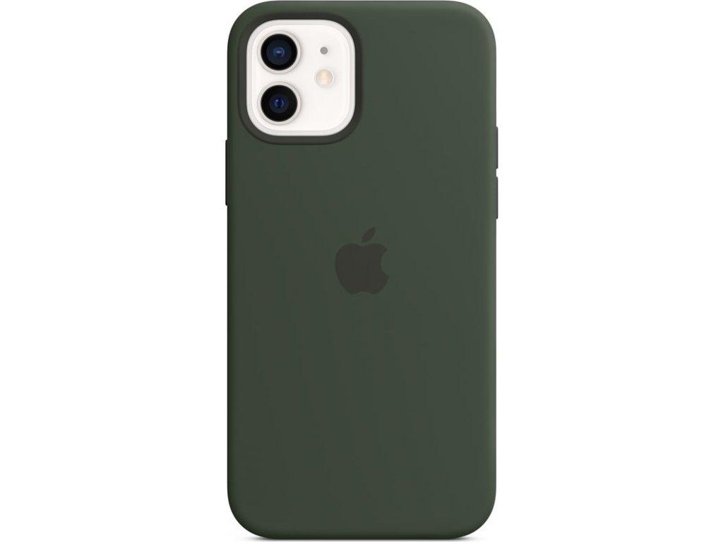 Kryt na mobil Apple Silicone Case s MagSafe pro iPhone 12 a 12 Pro - kypersky zelený