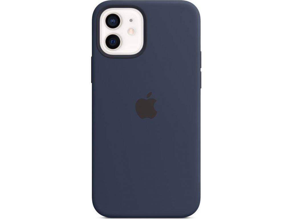 Kryt na mobil Apple Silicone Case s MagSafe pro iPhone 12 a 12 Pro - námořnicky tmavomodrý