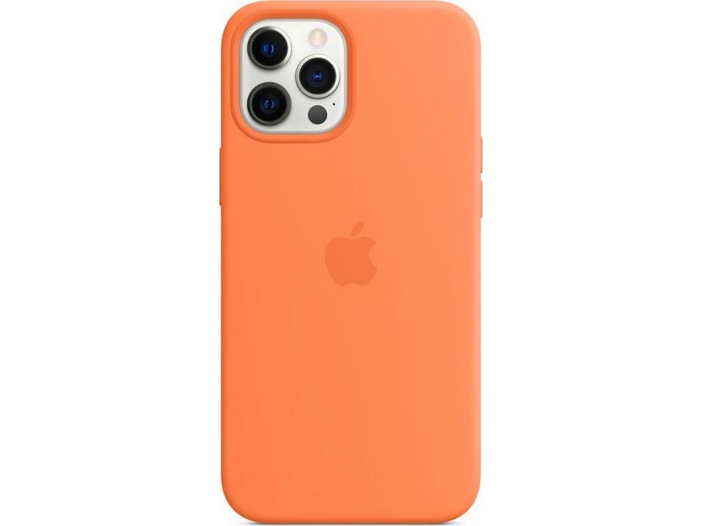 Kryt na mobil Apple Silicone Case s MagSafe pro iPhone 12 Pro Max - kumkvatově oranžový
