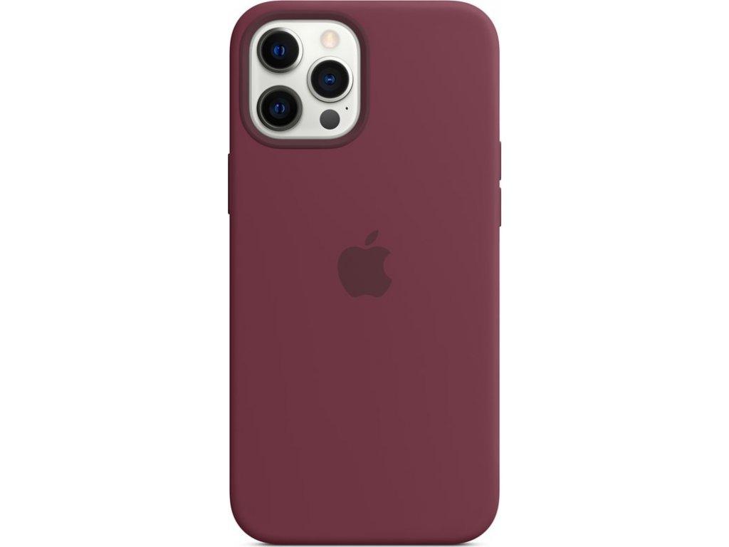 Kryt na mobil Apple Silicone Case s MagSafe pro iPhone 12 Pro Max - švestkový
