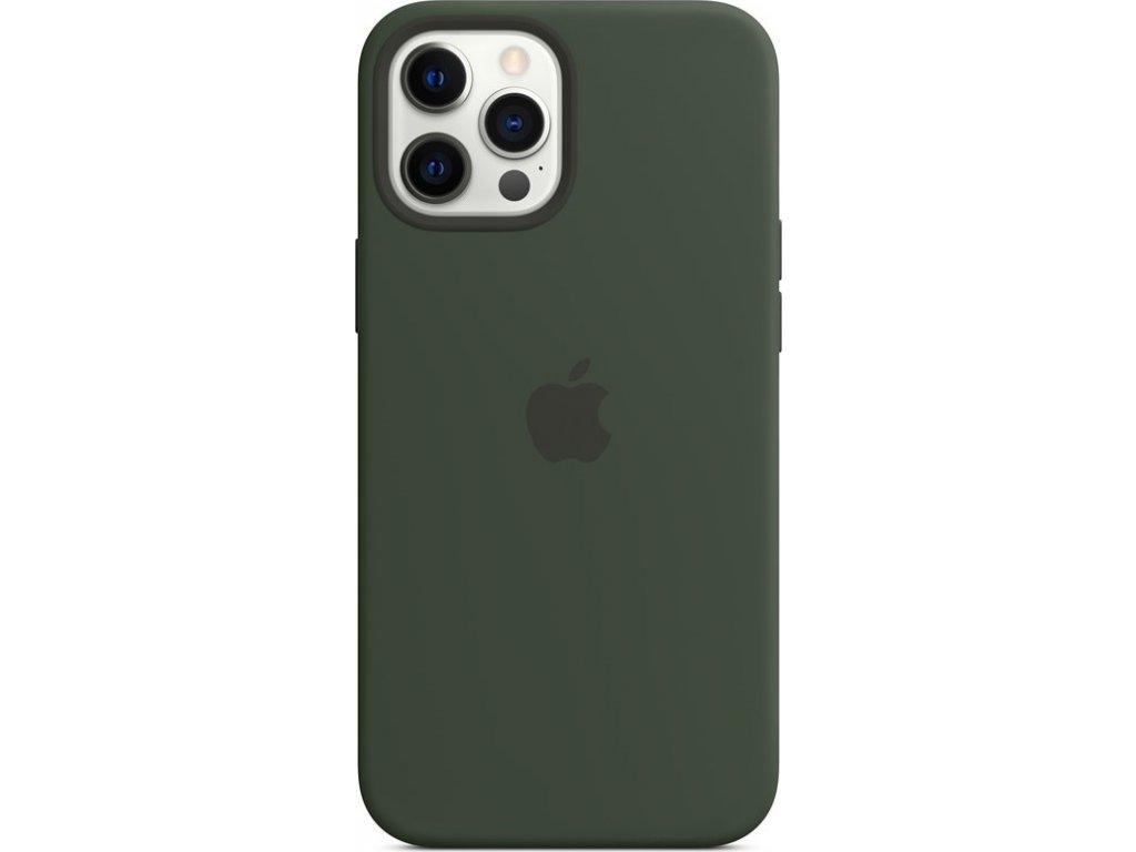 Kryt na mobil Apple Silicone Case s MagSafe pro iPhone 12 Pro Max - kypersky zelený
