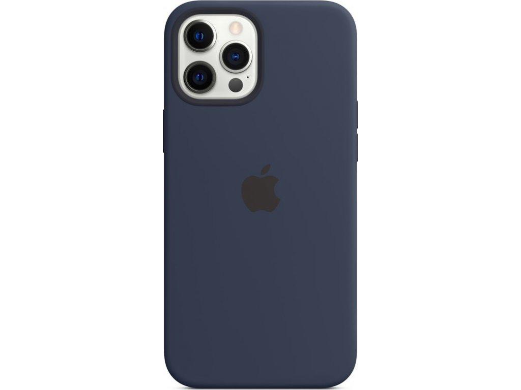 Kryt na mobil Apple Silicone Case s MagSafe pro iPhone 12 Pro Max - námořnicky tmavomodrý