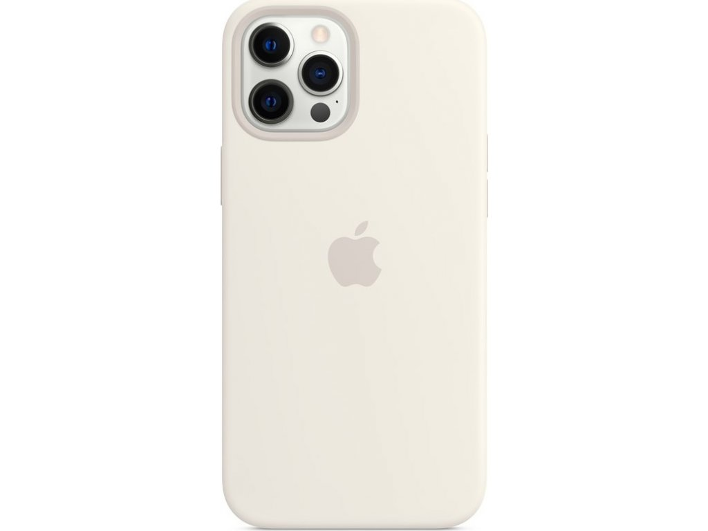 Kryt na mobil Apple Silicone Case s MagSafe pro iPhone 12 Pro Max - bílý