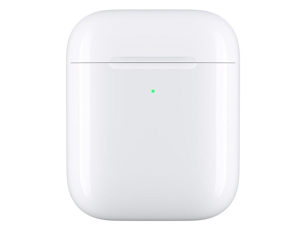 Pouzdro Apple pro AirPods, bezdrátové nabíjení - bílá