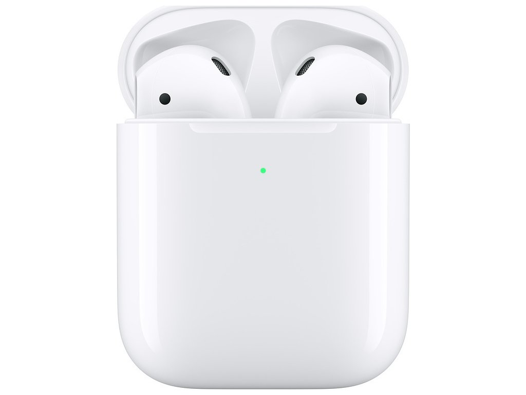Sluchátka Apple AirPods, bezdrátové nabíjení (2019) - bílá