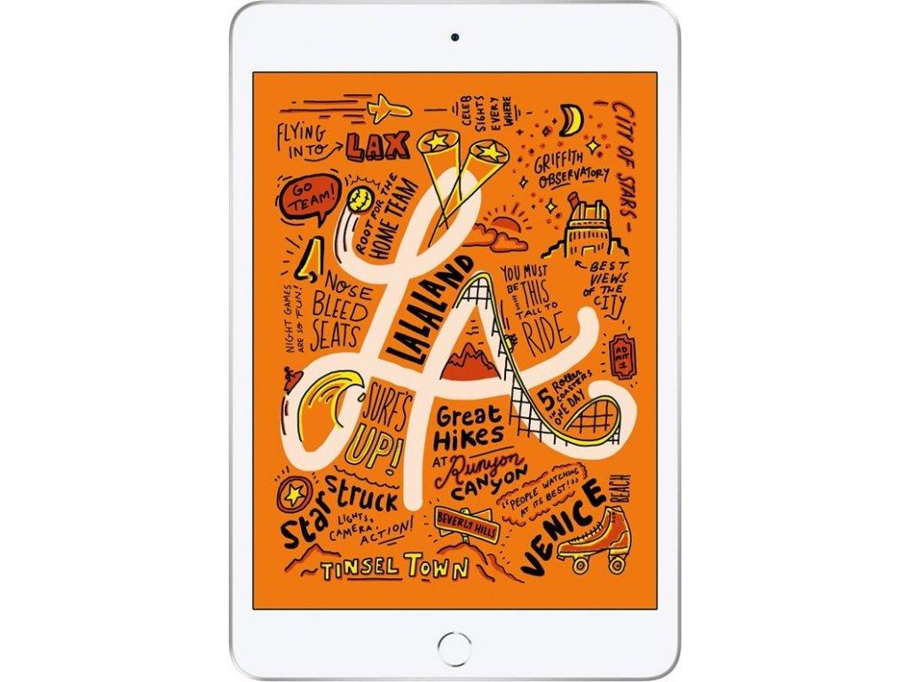 """Dotykový tablet Apple iPad mini (2019) Wi-Fi 64 GB - Silver 7.9"""", 64 GB, WF, BT, iOS 12"""