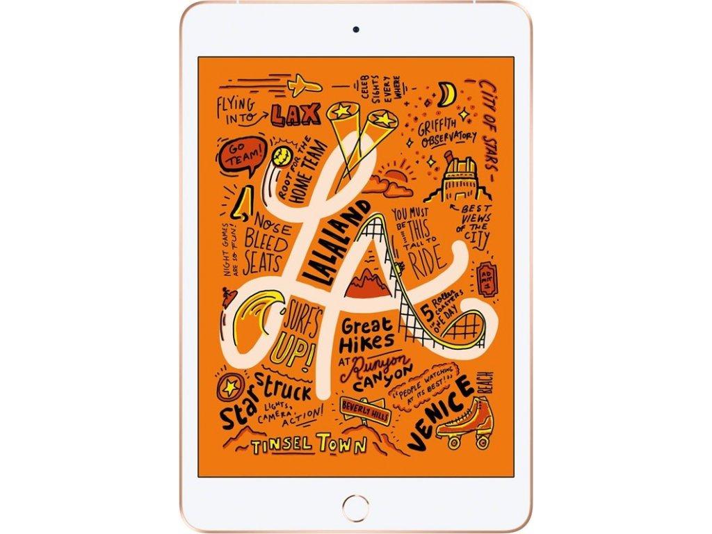 "Dotykový tablet Apple iPad mini (2019) Wi-Fi + Cellular 64 GB - Gold 7.9"", 64 GB, WF, BT, 3G, GPS, iOS 12"