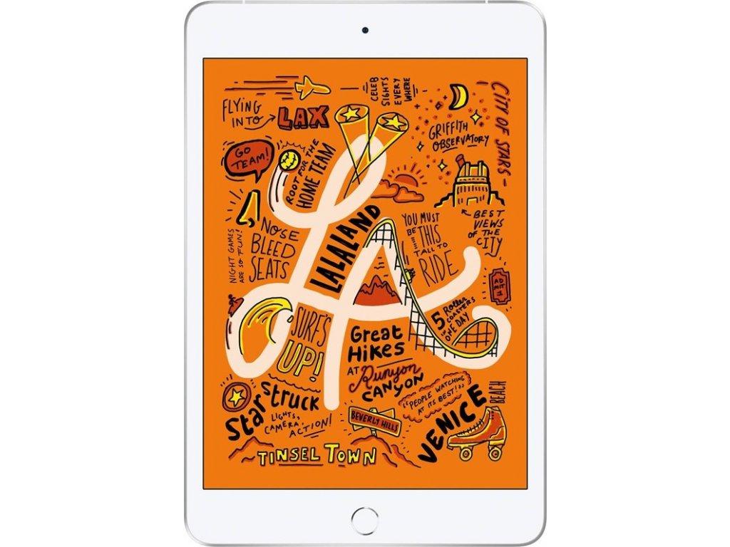 "Dotykový tablet Apple iPad mini (2019) Wi-Fi + Cellular 256 GB - Silver 7.9"", 256 GB, WF, BT, 3G, GPS, iOS 12"