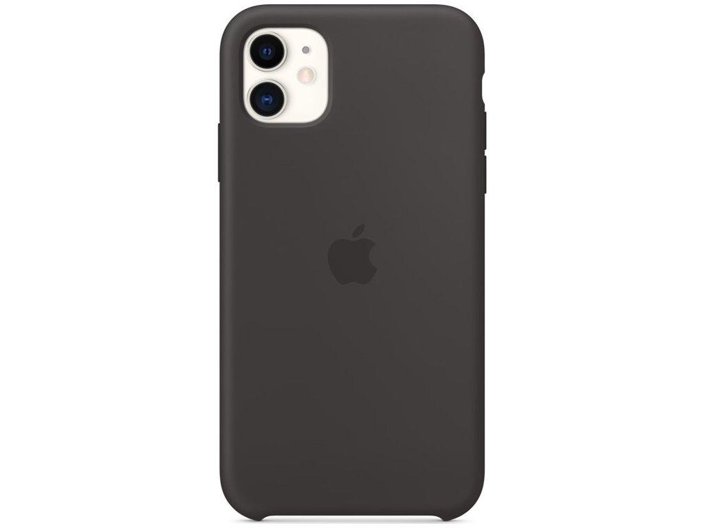 Kryt na mobil Apple Silicone Case pro iPhone 11 - černý
