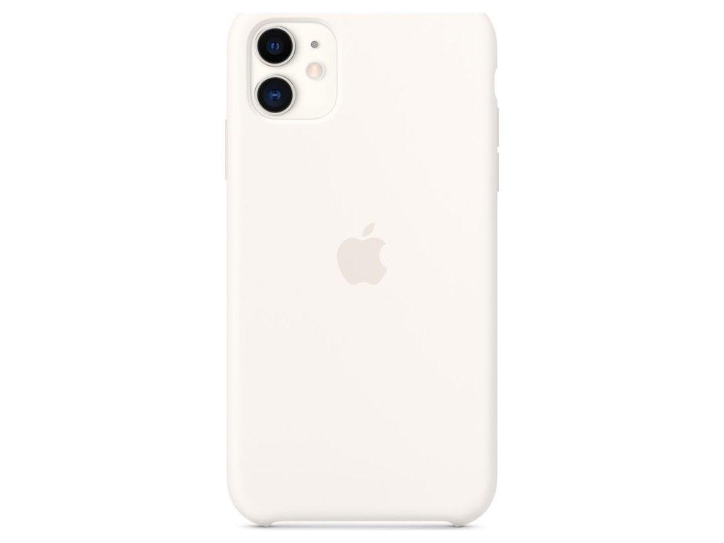 Kryt na mobil Apple Silicone Case pro iPhone 11 - bílý