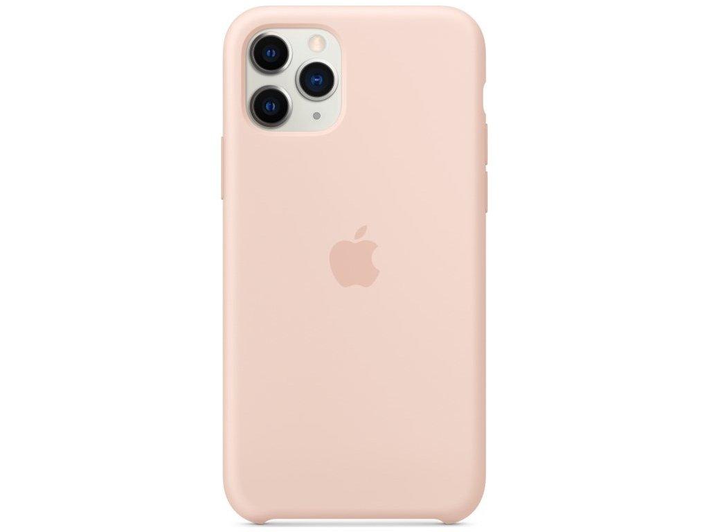 Kryt na mobil Apple Silicone Case pro iPhone 11 Pro - pískově růžový