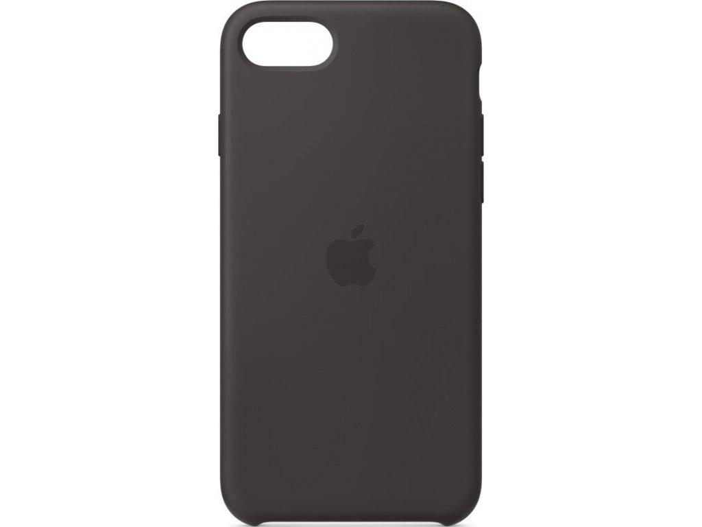 Kryt na mobil Apple  Silicone Case pro iPhone SE (2020) - černý
