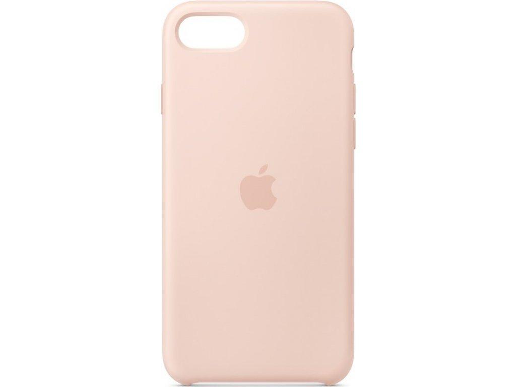 Kryt na mobil Apple  Silicone Case pro iPhone SE (2020) - pískově růžový