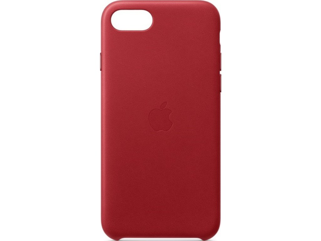 Kryt na mobil Apple Leather Case pro iPhone SE (2020) - (PRODUCT)RED - červený