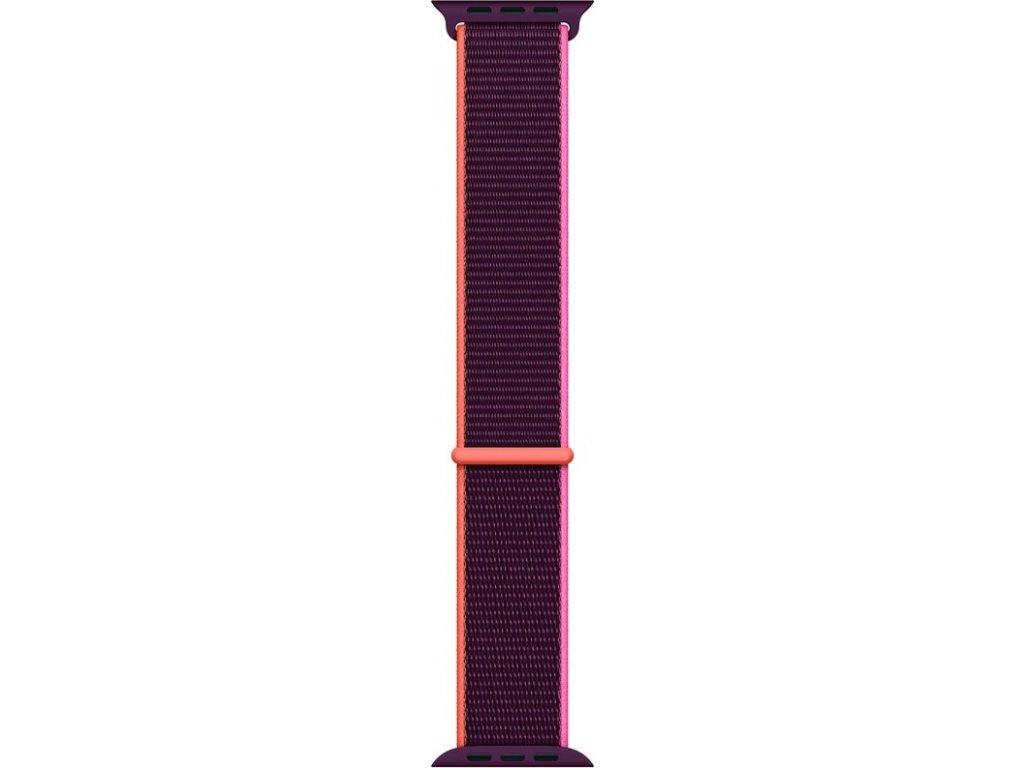 Řemínek Apple Watch 44mm švestkový provlékací sportovní