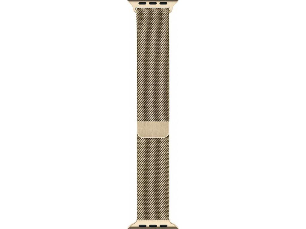 Řemínek Apple Watch 44mm zlatý milánský tah