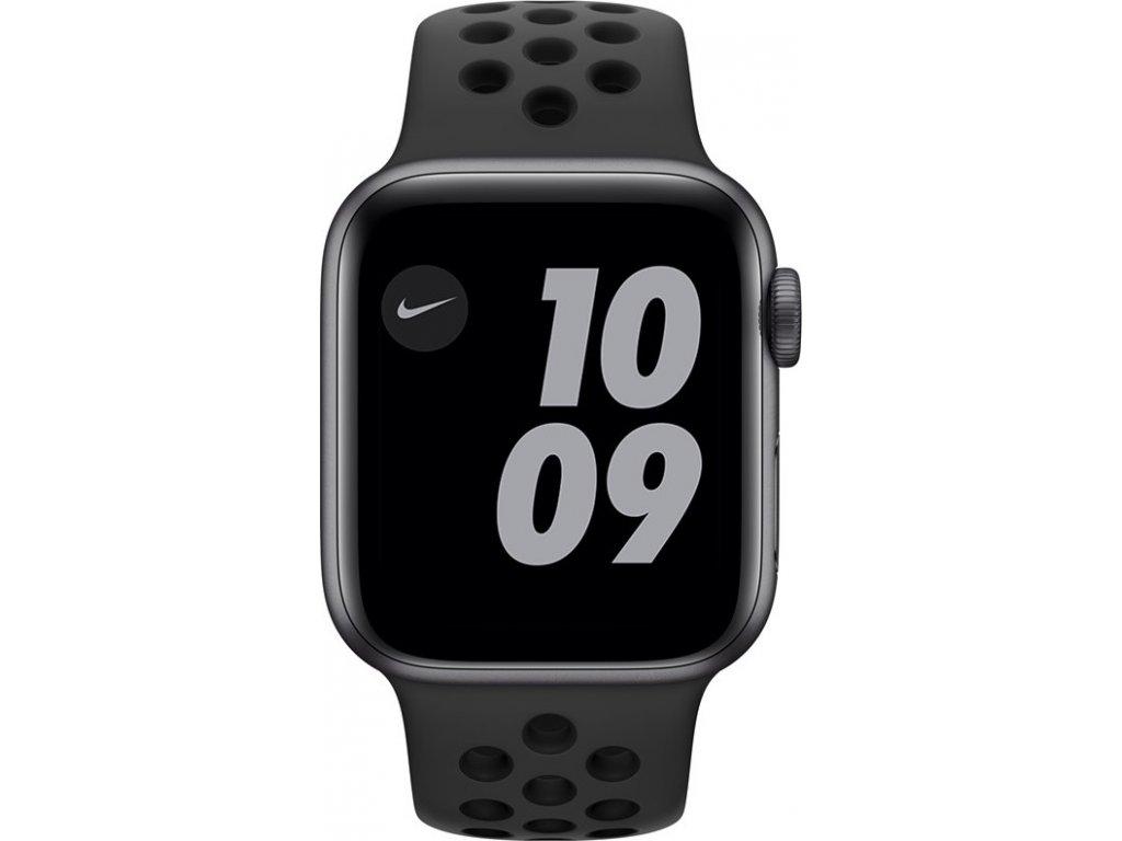 Chytré hodinky Apple Watch Nike SE GPS 44mm pouzdro z vesmírně šedého hliníku - antracitový/černý sportovní náramek Nike