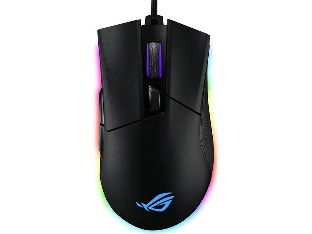 Myš Asus ROG Gladius II Origin / optická/ 6 tlačítka / 120000DPI - černá