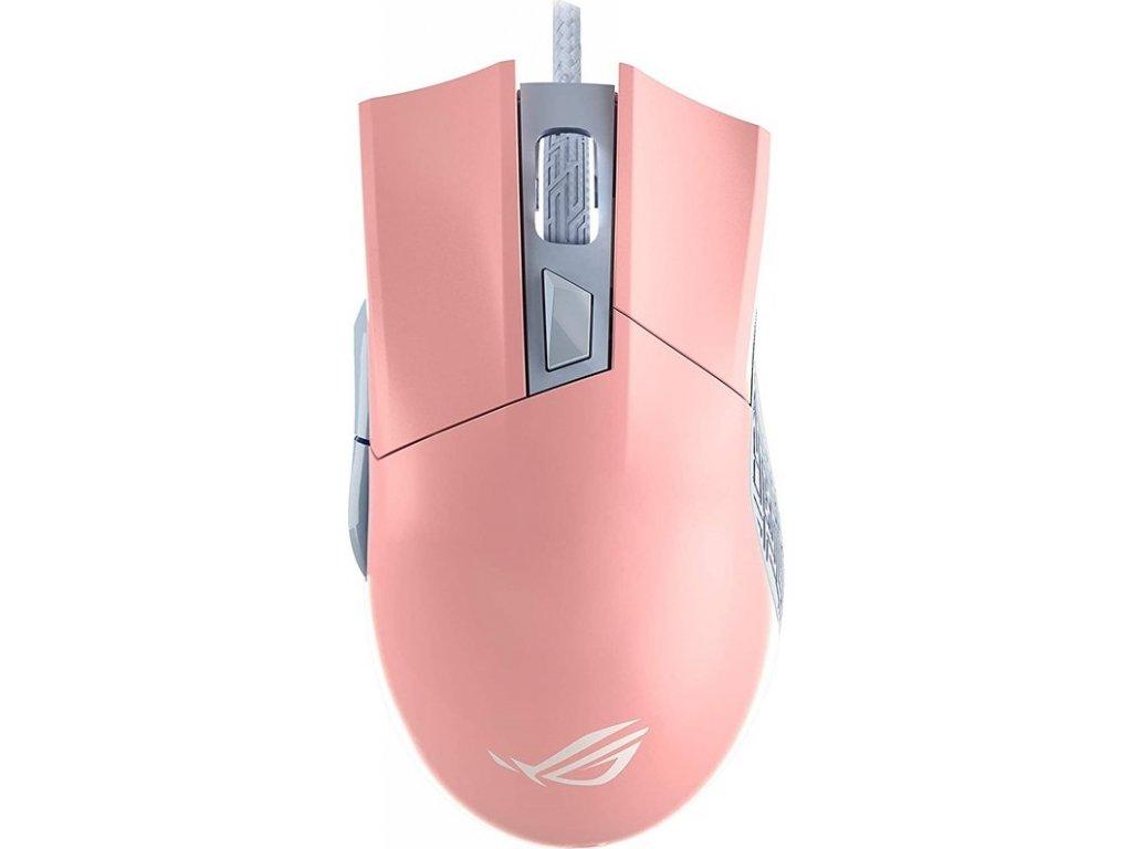 Myš Asus ROG Gladius II Origin - růžová