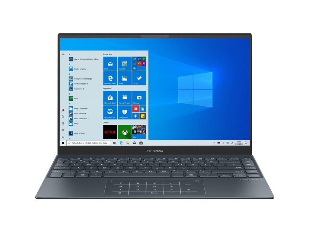 "Ntb Asus Zenbook UX325EA-EG010T i5-1135G7, 8GB, 512GB, 13.3"", Full HD, bez mechaniky, Intel Iris Plus Graphics, BT, CAM, W10 Home + USB-C na audio jack adaptér - šedý"