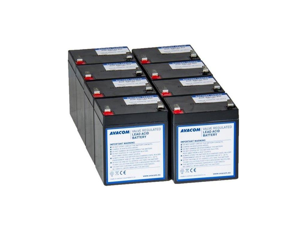 Bateriový kit Avacom pro renovaci RBC43 (8ks baterií)