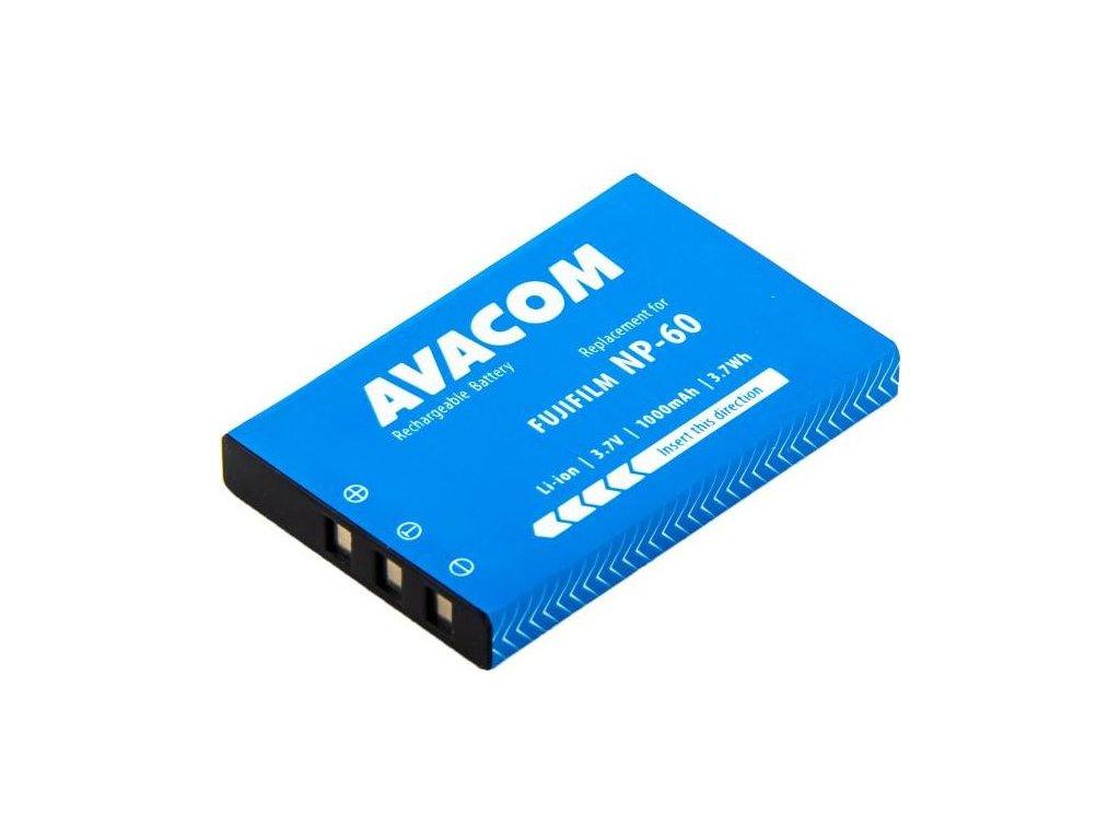 Baterie Avacom Fujifilm NP-60, Li-Ion 3.7V 1000mAh 3.7Wh