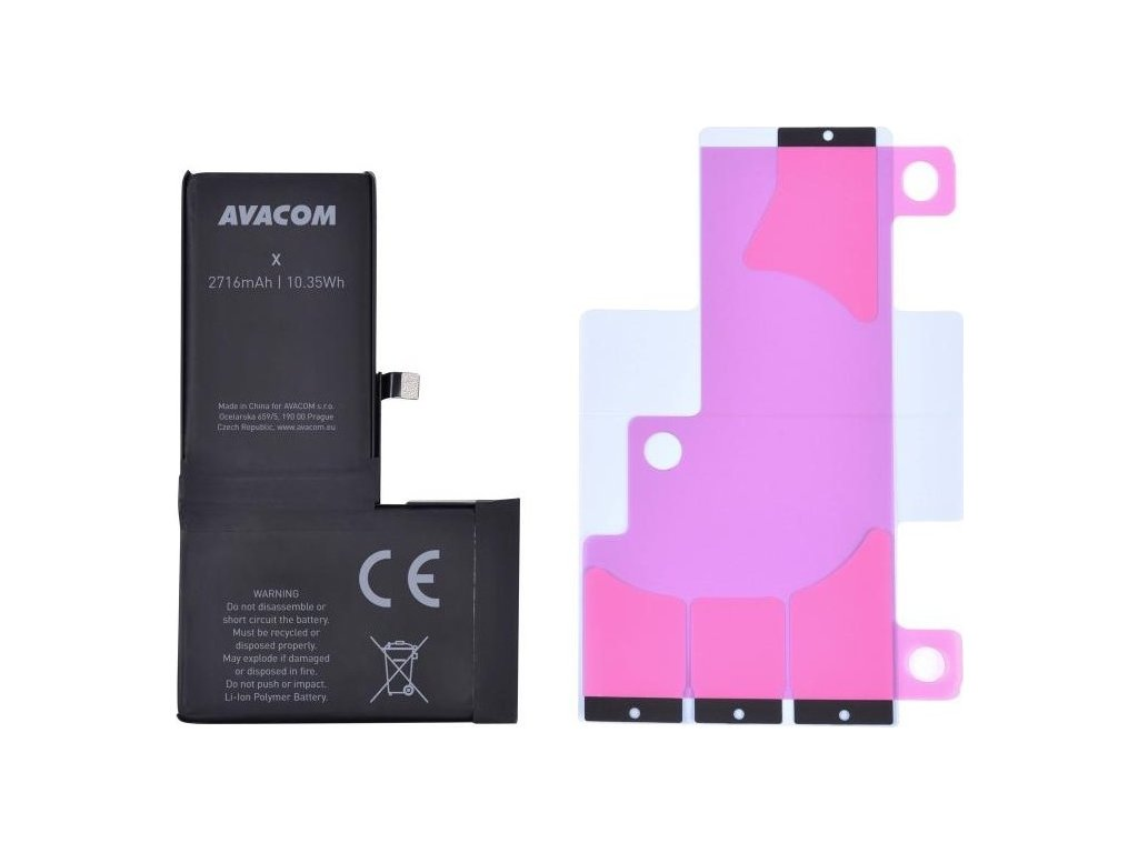 Baterie Avacom pro Apple iPhone X, Li-Ion 3,81V 2716mAh