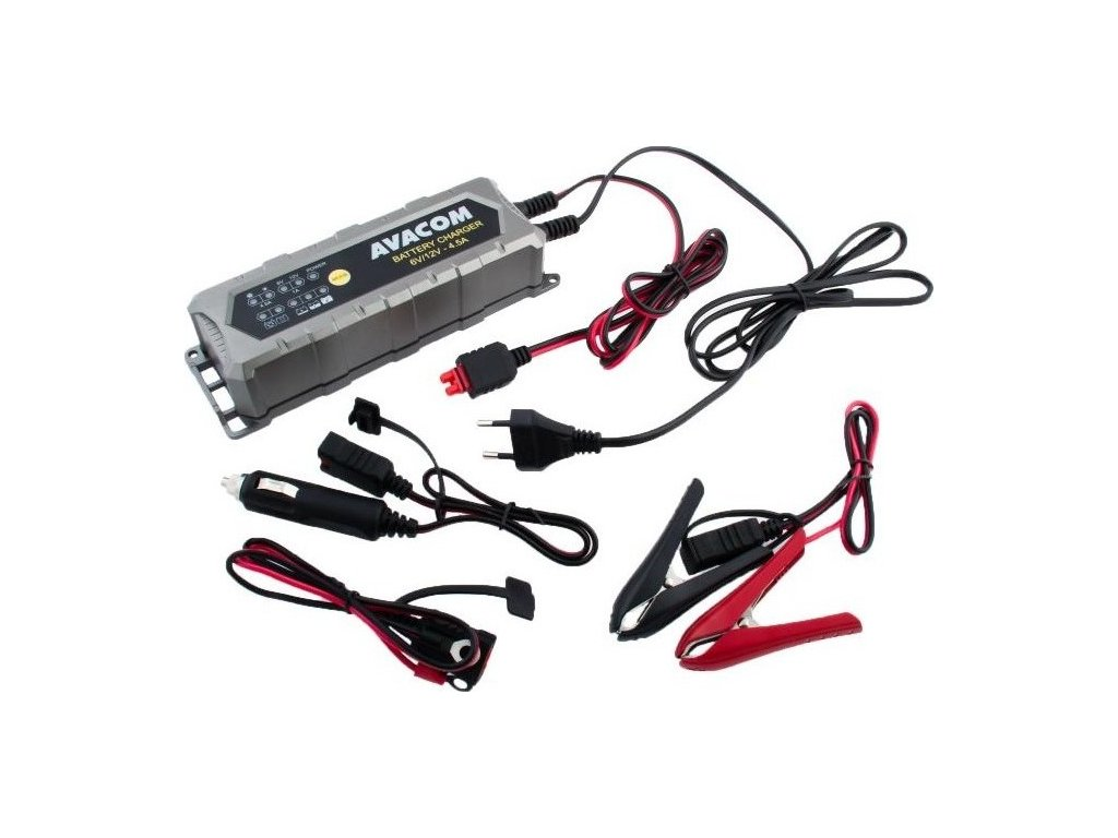 Nabíječka Avacom 6V/12V 4,5A pro olověné AGM/GEL akumulátory (1,2 - 120Ah)