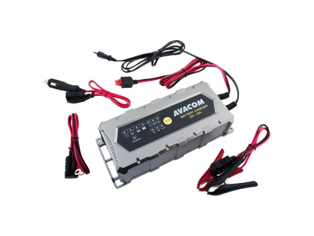 Nabíječka Avacom 12V 10A pro olověné AGM/GEL akumulátory (20 - 200Ah)