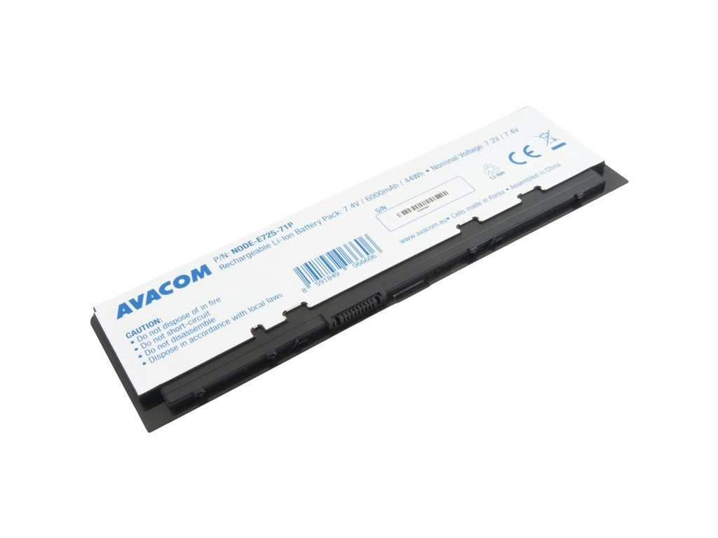 Baterie Avacom Dell Latitude E7240 Li-Pol 7,4V 6000mAh / 44Wh