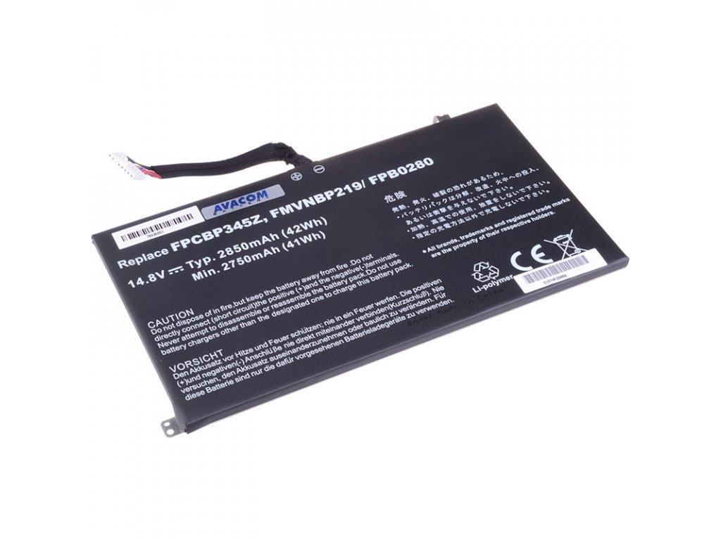 Baterie Avacom Fujitsu LifeBook UH572, Li-Pol 14,8V 2850mAh/42Wh