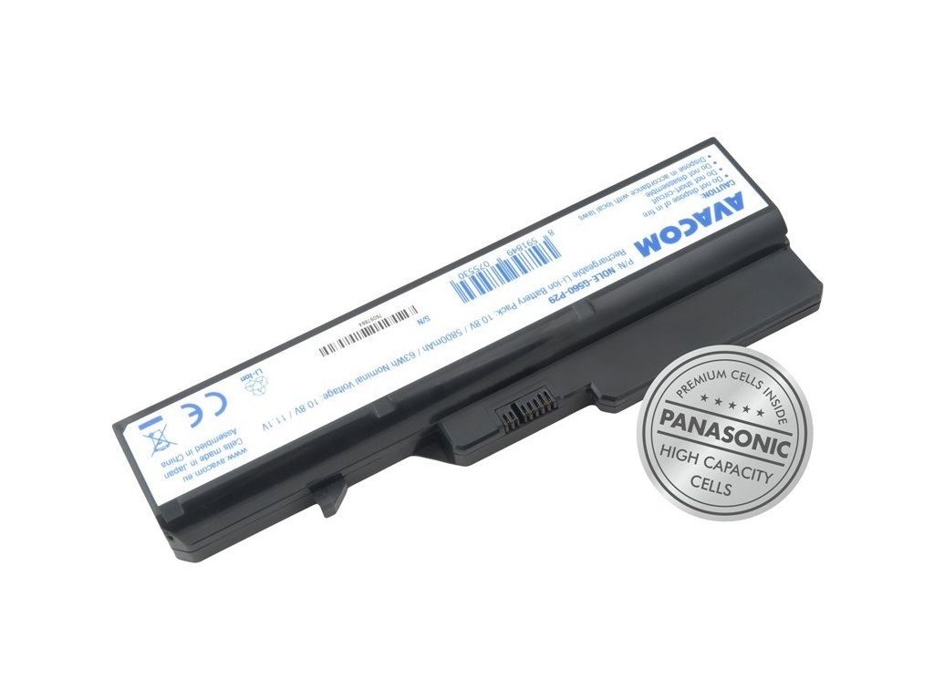 Baterie Avacom Lenovo G560, IdeaPad V470 series Li-Ion 10,8V 5800mAh 63Wh