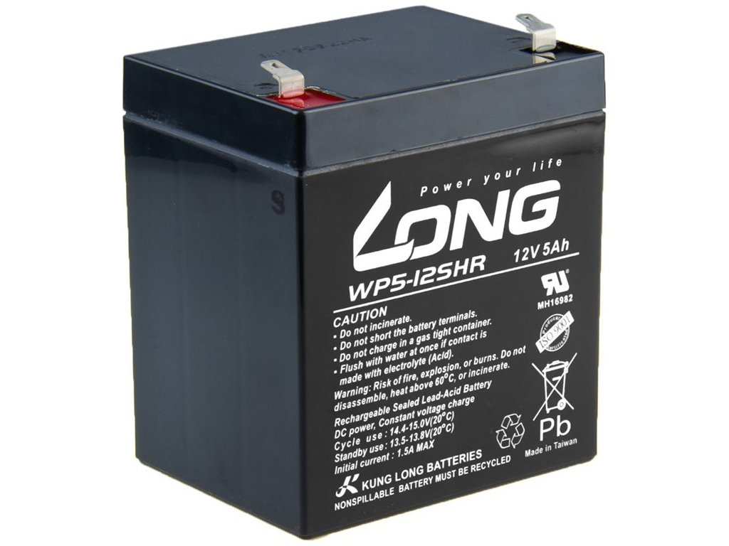 Olověný akumulátor Avacom Long 12V 5Ah HighRate F1 (WP5-12SHR F1)
