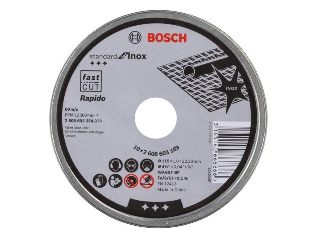 Kotouč řezný Bosch 125x1.0x22.23mm 10ks v plechovce