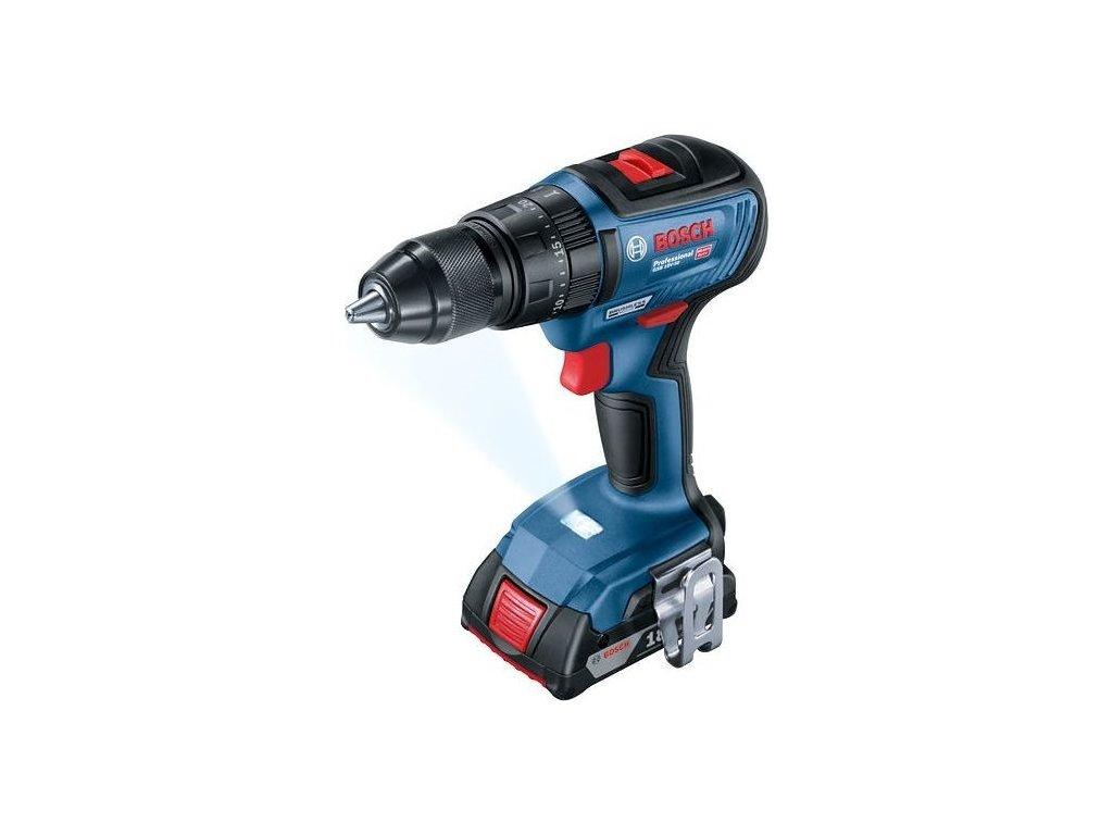 Aku vrtačka Bosch GSB18V50+2x2.0+Lcase 0.601.9H5.100