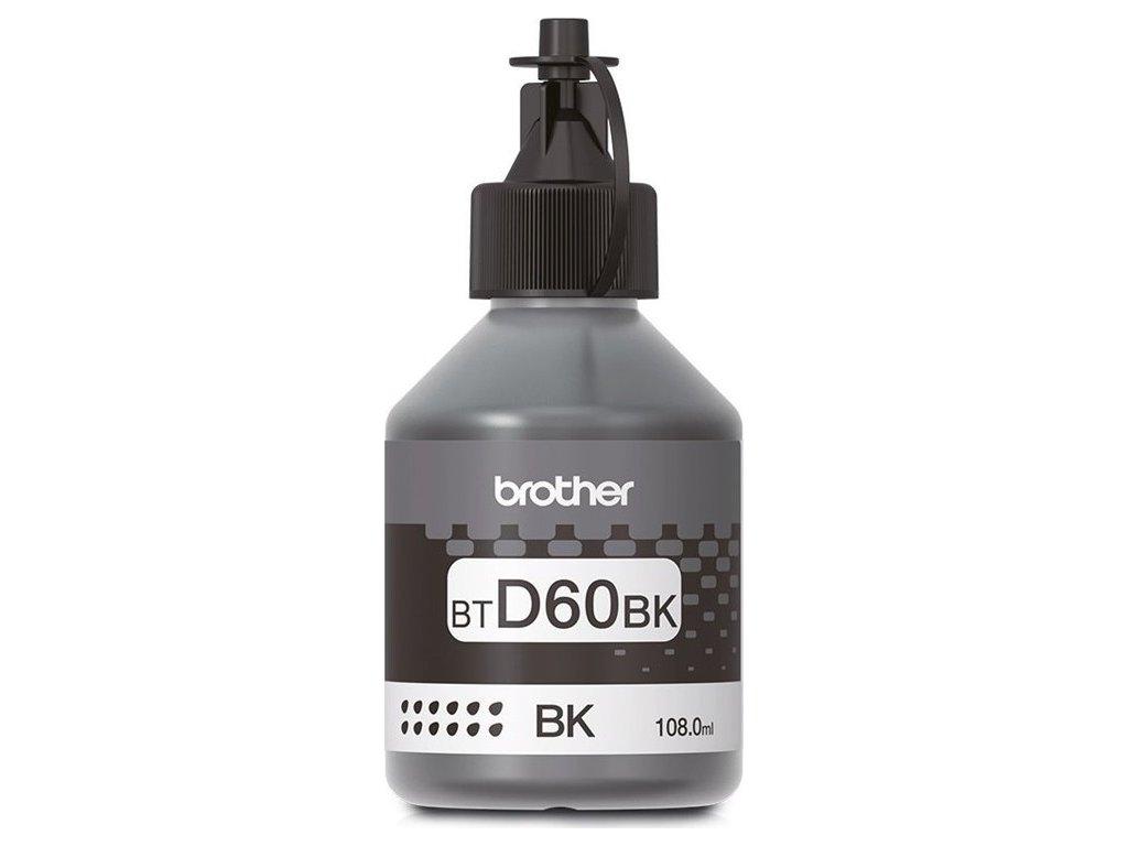 Inkoustová náplň Brother BT-D60BK, 6500 stran - černá
