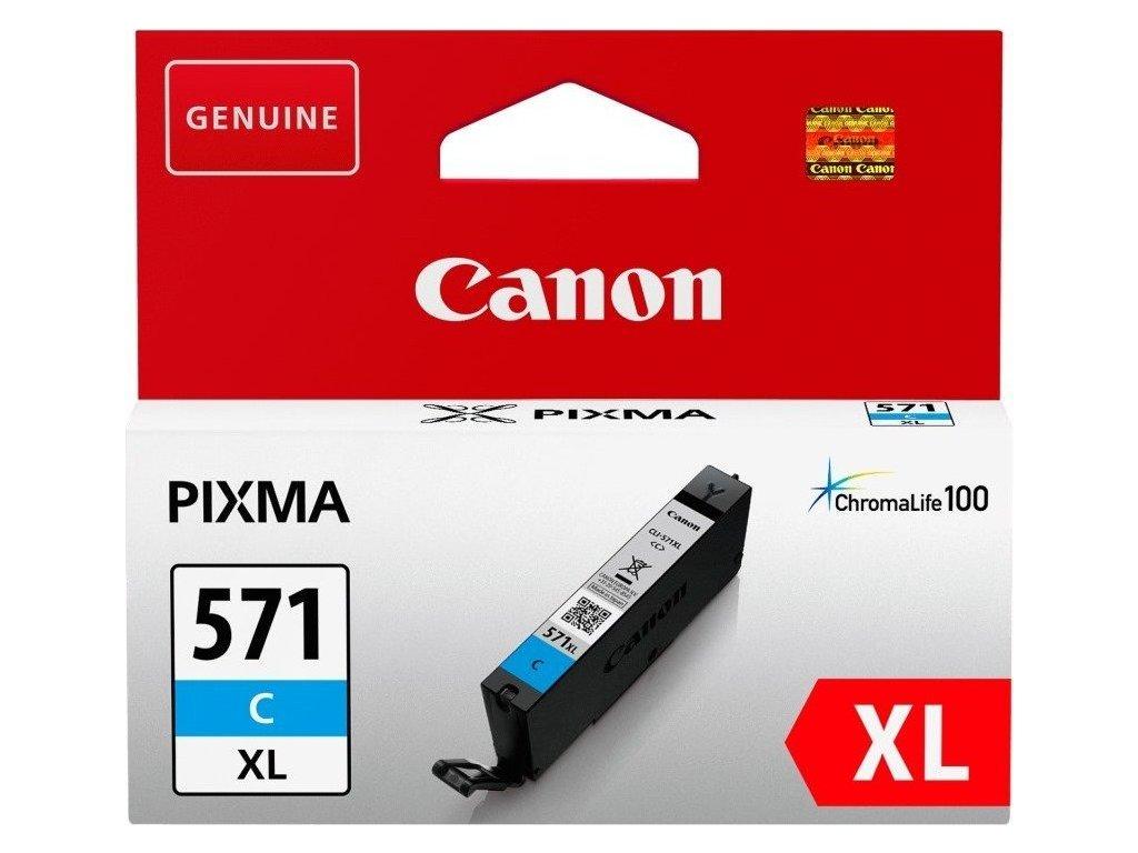 Inkoustová náplň Canon CLI-571XL C - azurový