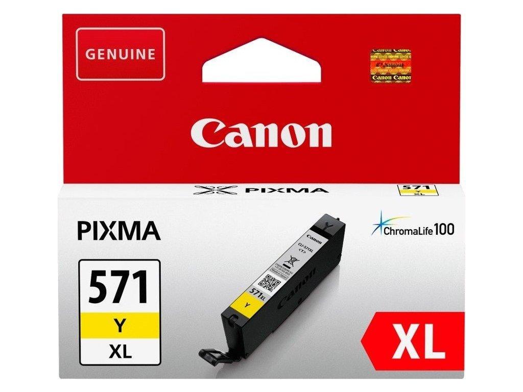 Inkoustová náplň Canon CLI-571XL Y - žlutý