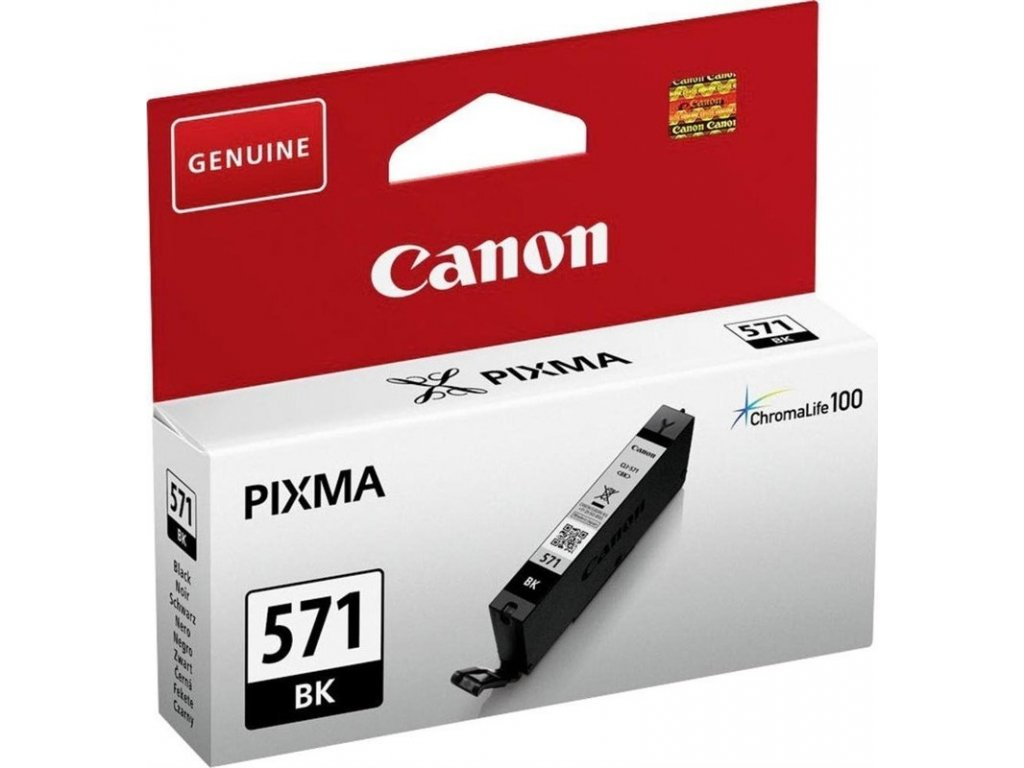 Inkoustová náplň Canon CLI-571BK - černý