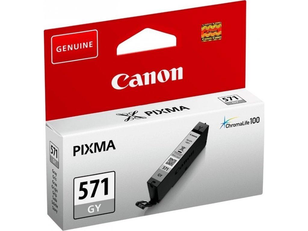 Inkoustová náplň Canon CLI-571G - šedý