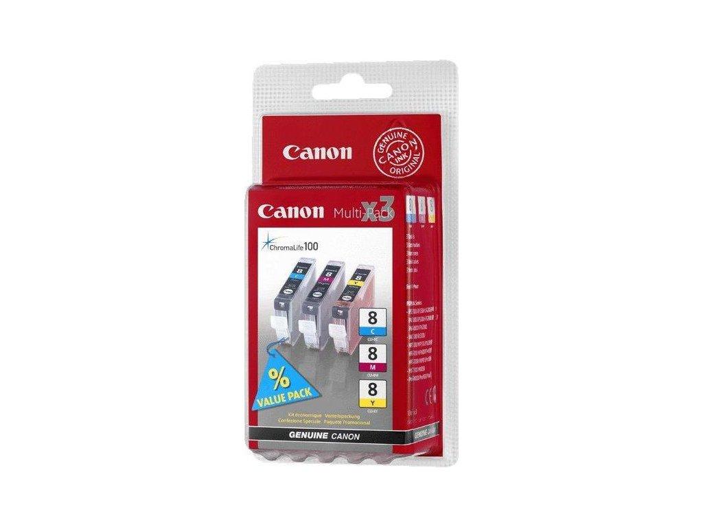 Inkoustová náplň Canon CLI-8 CMY, 420 stran originální - CMY
