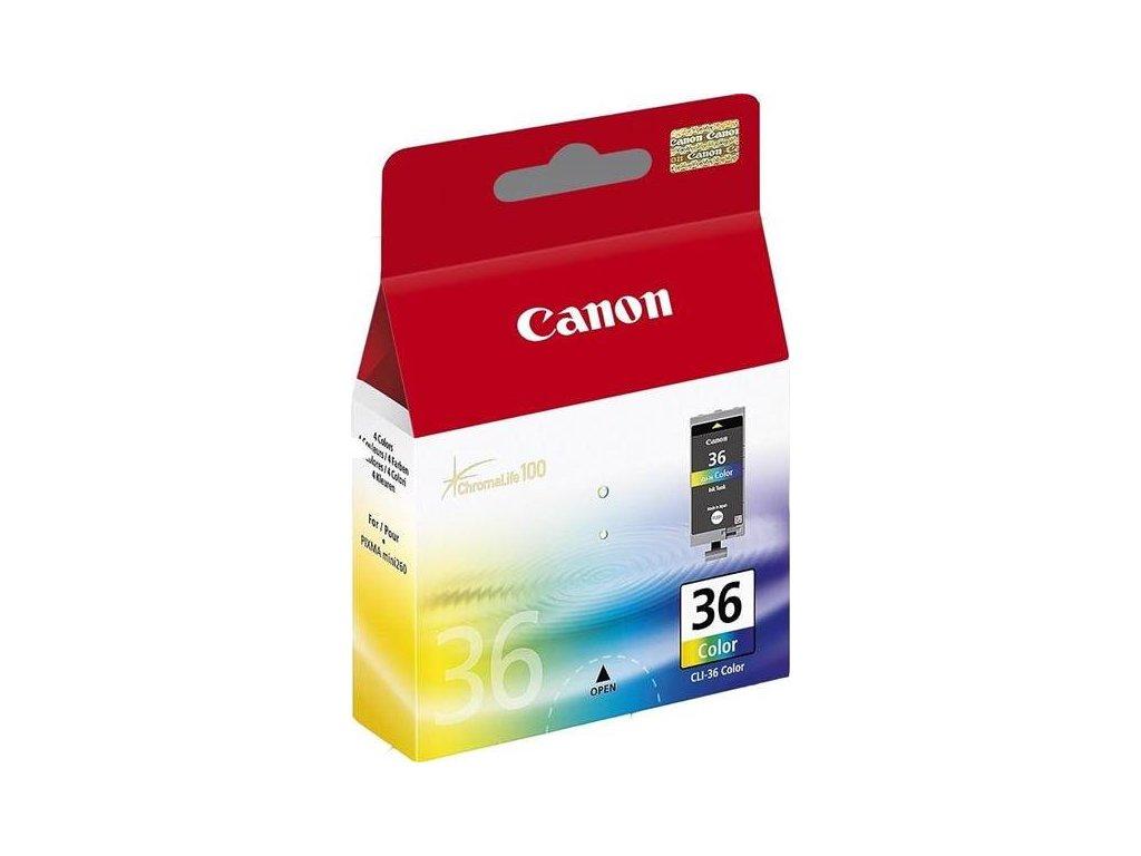 Inkoustová náplň Canon CLI-36C, 249 stran, originální - CMY